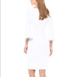 Calvin Klein White Bell-sleeve dress